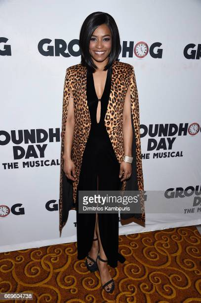 Taylor Iman Jones attends the Groundhog Day Broadway Opening Night at Gotham Hall on April 17 2017 in New York City