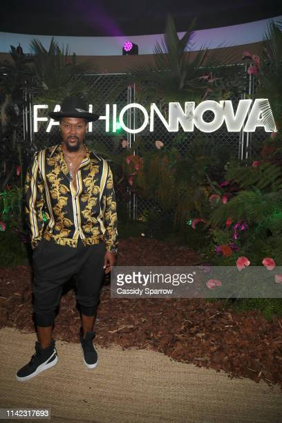 R Taylor is seen as Fashion Nova Presents Party With Cardi at Hollywood Palladium on May 8 2019 in Los Angeles California