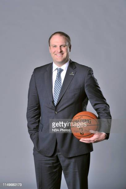 Taylor Jenkins head coach of the Memphis Grizzlies poses for a portrait on June 12 2019 at FedEx Forum in Memphis Tennessee NOTE TO USER User...