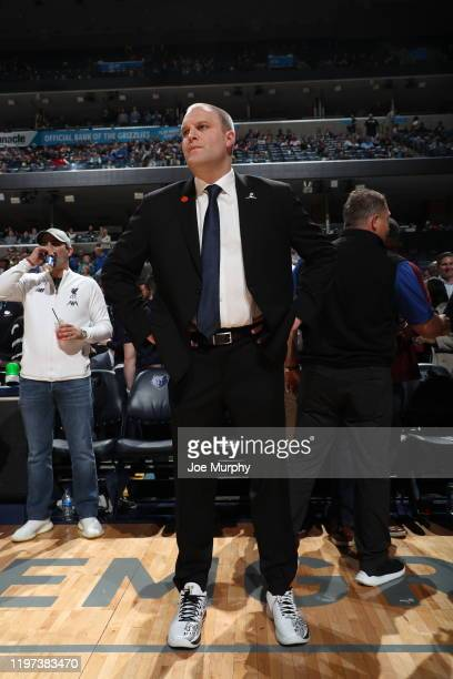 Taylor Jenkins of the Memphis Grizzlies looks on before the game against the Denver Nuggets on January 28 2020 at FedExForum in Memphis Tennessee...