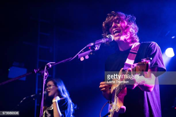 Taylor Johnson of Brand New Friend performs at The Garage on June 20 2018 in London England