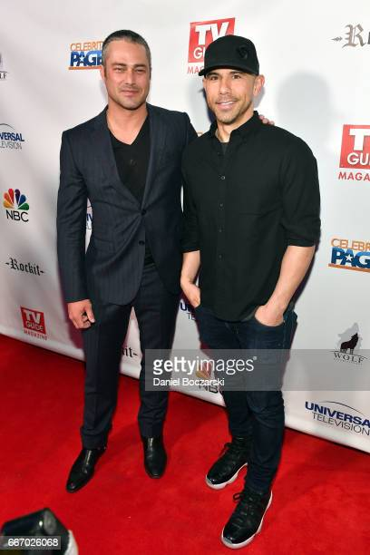 Taylor Kinney and Billy Dec attend TV Guide Celebrates Cover Stars Taylor Kinney & Jesse Spencer at RockIt Ranch on April 10, 2017 in Chicago,...