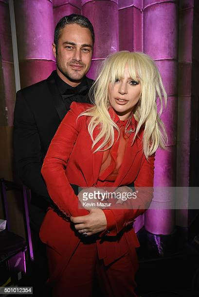 Taylor Kinney and Lady Gaga attend Billboard Women In Music 2015 on Lifetime at Cipriani 42nd Street on December 11, 2015 in New York City.