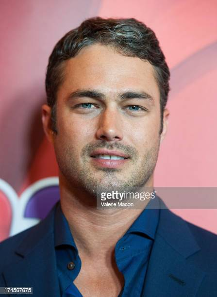 Taylor Kinney arrives at the NBCUniversal's '2013 Summer TCA Tour' at The Beverly Hilton Hotel on July 27 2013 in Beverly Hills California