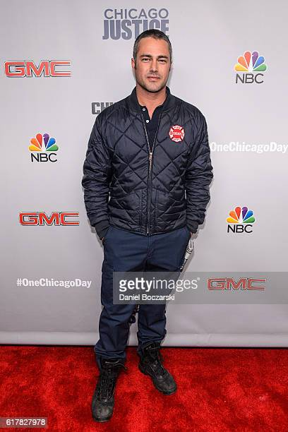 Taylor Kinney attends NBC's Chicago series press day on October 24 2016 in Chicago Illinois