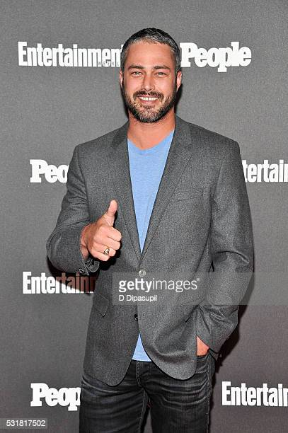 Taylor Kinney attends the Entertainment Weekly and People New York Upfronts Celebration at Cedar Lake on May 16 2016 in New York City