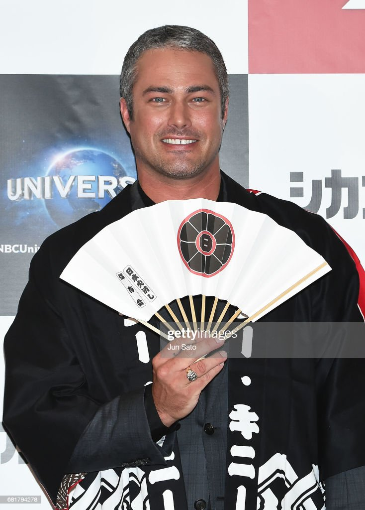 Taylor Kinney attends the press conference for 'Chicago Fire' Season 3 on May 11, 2017 in Tokyo, Japan.