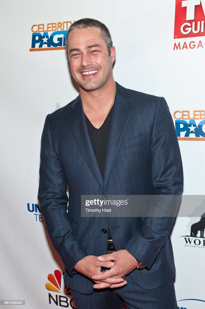 Taylor Kinney attends TV Guide Celebrates Cover Stars Taylor Kinney & Jesse Spencer at RockIt Ranch on April 10, 2017 in Chicago, Illinois.