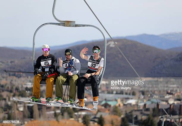 Taylor Kinney Trent Kinney and David Walton attend the Ski Challenge at Operation Smile's 4th Annual Celebrity Ski Smile Challenge at Park City...