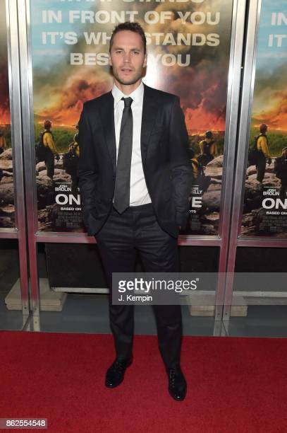 Taylor Kitsch attends Only The Brave screening at iPic Theater on October 17 2017 in New York City