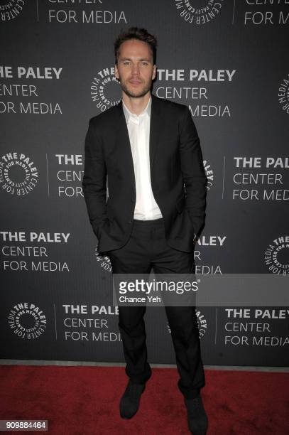 Taylor Kitsch attends Waco world premiere screening at The Paley Center for Media on January 24 2018 in New York City