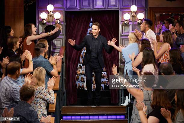 Taylor Kitsch greets the audience during 'The Late Late Show with James Corden' Thursday February 8 2018 On The CBS Television Network
