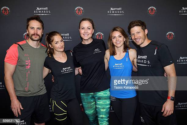 Taylor Kitsch, Minka Kelly, Senior Director of Social & Digital Marketing at Marriott International Amanda Moore, Aimee Teegarden and Zach Gilford...