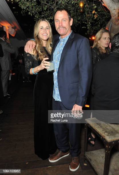 Taylor Knox and his wife Anne Marie Knox attend HBO's Momentum Generation Premiere after party at The Bungalow on November 05 2018 in Santa Monica...