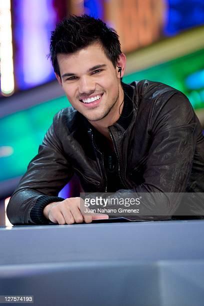Taylor Lautner attends 'El Hormiguero' TV show at Vertice 360 Studios on September 29 2011 in Madrid Spain