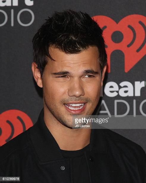 Taylor Lautner attends the 2016 iHeartRadio Music Festival at TMobile Arena on September 24 2016 in Las Vegas Nevada