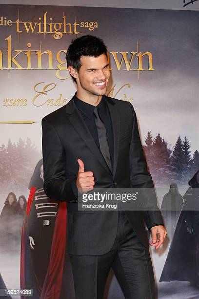 Entertainment Online Subscriptions GLR Included Taylor Lautner attends the 'Twilight Saga Breaking Dawn Part 2' Germany Premiere at CineStar on...