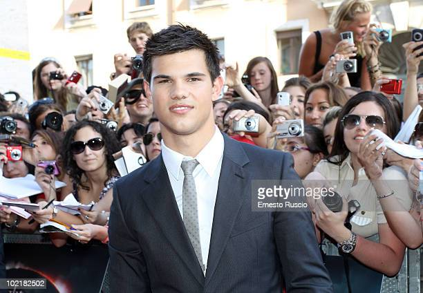 Taylor Lautner attends The Twilight Saga Eclipse premiere on June 17 2010 in Rome Italy