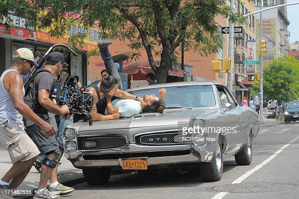 Taylor Lautner is seen filming on June 24 2013 in New York City