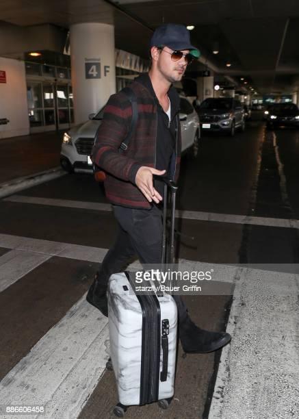 Taylor Lautner is seen on December 05 2017 in Los Angeles California
