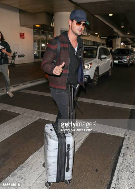 Taylor Lautner is seen on December 05 2017 in Los Angeles California