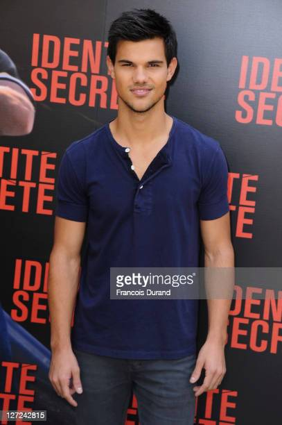 Taylor Lautner poses during the 'Secret Identity' Paris Photocall at Hotel Bristol on September 27 2011 in Paris France