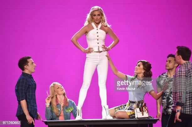 Taylor Louderman and the cast of Mean Girls perform onstage during the 72nd Annual Tony Awards at Radio City Music Hall on June 10 2018 in New York...