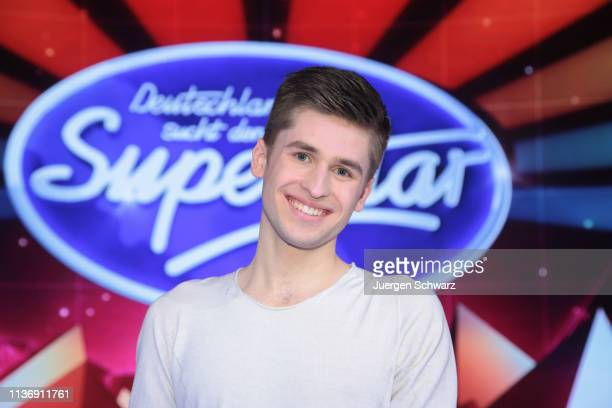 Taylor Luc Jacobs poses during the second event show of the tv competition Deutschland sucht den Superstar at Coloneum on April 13 2019 in Cologne...