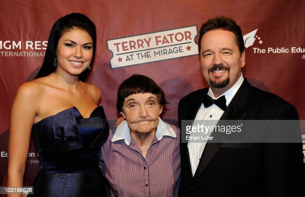 Taylor Makakoa comedian Grandma Lee and comic ventriloquist and impressionist Terry Fator arrive at a special performance of 'Terry Fator...