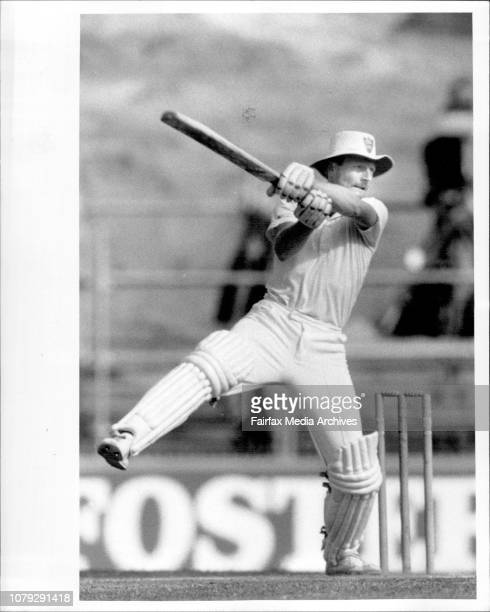 Taylor makes runs in his partnership with WellhamSheffield Shield Final at the SCG NSW Vs Qld NSW won the day March 18 1986