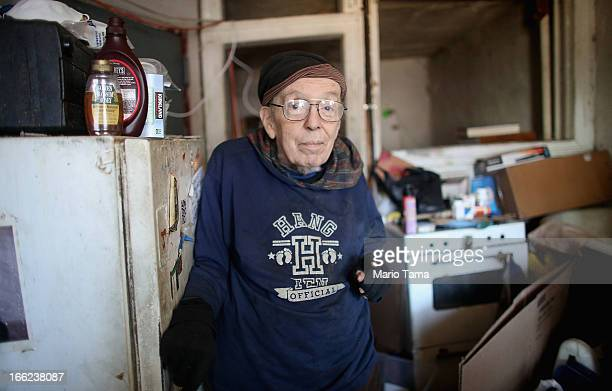 Taylor Mead an iconic Beat generation poet and star of films by Andy Warhol and others poses in his Lower East Side apartment a week before he moved...