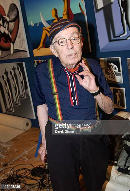 Taylor Mead during Mark Kostabi on Location for Name That Painting at Kostabi World in Soho May 5 2006 at Kostabi World in New York City New York...