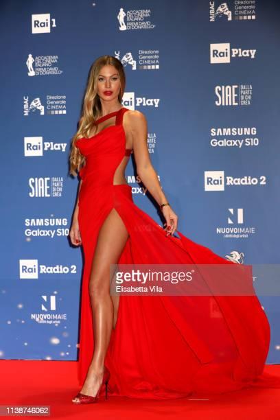 Taylor Mega attends the 64 David Di Donatello awards on March 27 2019 in Rome Italy