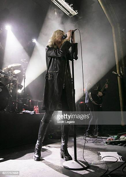 Taylor Momsen and Ben Phillips of The Pretty Reckless perform in support of the Who You Selling For Tour 2016 at St Andrews Hall on November 10 2016...