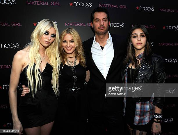 Taylor Momsen Madonna Guy Oseary and Lola Leon attend the launch of Material Girl at Macy's Herald Square on September 22 2010 in New York City