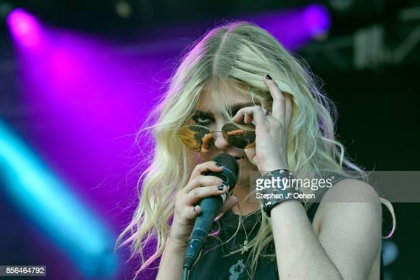 Taylor Momsen of The Pretty Reckless performs at Champions Park on October 1 2017 in Louisville Kentucky
