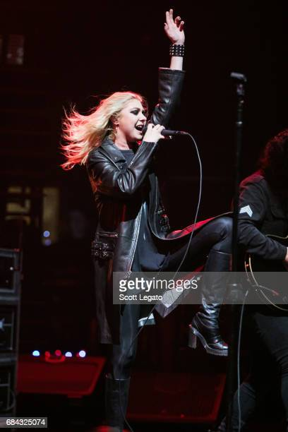 Taylor Momsen of The Pretty Reckless performs at The Fox Theatre on May 17 2017 in Detroit Michigan