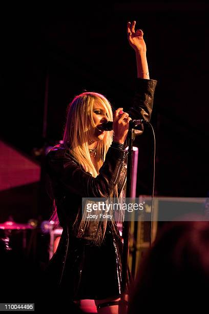 Taylor Momsen of The Pretty Reckless performs live at The Club at Stage AE on March 13 2011 in Pittsburgh Pennsylvania