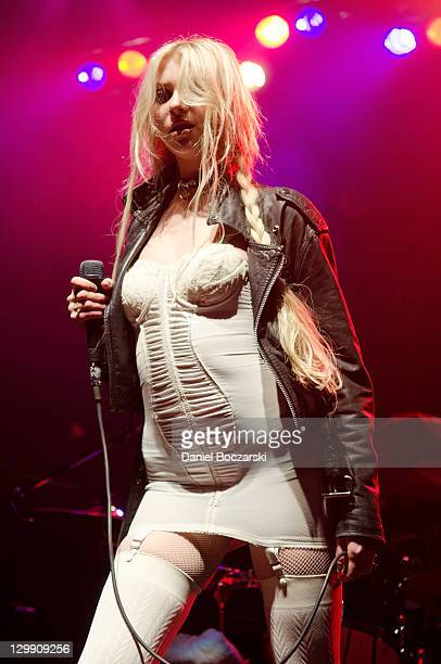 Taylor Momsen of The Pretty Reckless performs on stage at The Rave Eagles Club on October 21 2011 in Milwaukee Wisconsin