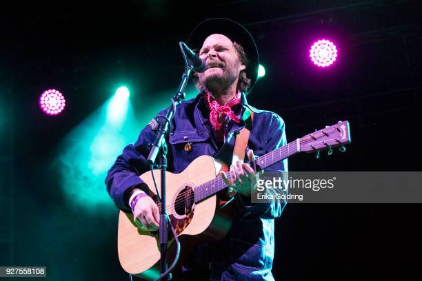 Taylor of Hiss Golden Messenger performs during Okeechobee Festival at Sunshine Grove on March 4 2018 in Okeechobee Florida