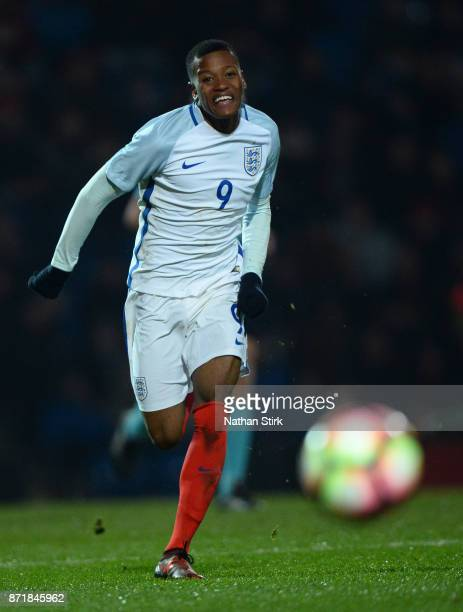 Taylor Perry of England U17s in action during the International Match between England U17 and Portugal U17 at Proact Stadium on November 8 2017 in...