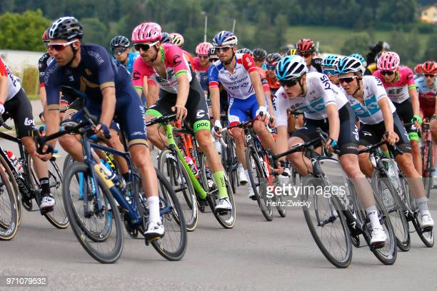 Taylor Phinney of The United States and Team EF Education First - Drapac P/B Cannondale / Olivier Le Gac of France and Team Groupama FDJ / during the...