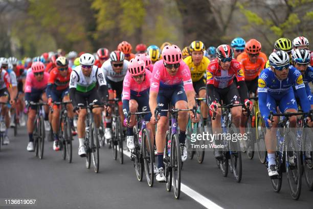 Taylor Phinney of The United States and Team EF Education First / Simon Clarke of Australia and Team EF Education First / Michael Morkov of Denmark...