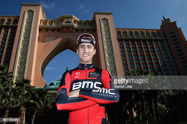 Taylor Phinney of the USA and BMC Racing Team poses for a picture after stage two of the 2014 Tour of Dubai on February 6 2014 in Dubai United Arab...