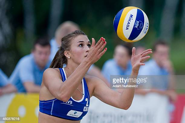 Taylor Pischke from Canada in action during FIVB Under 23 World Championships on June 10, 2014 in Myslowice, Poland.