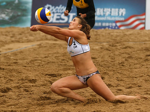 how to play 4 person beach volleyball