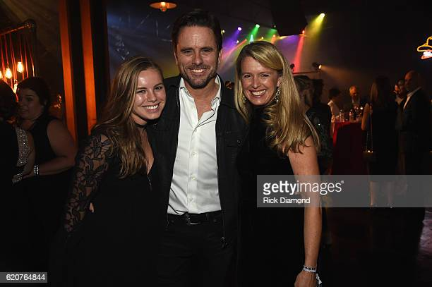Taylor Puskar Charles Esten and Patty Hanson attend the Big Machine Label Group's celebration of the 50th Annual CMA Awards at Marathon Music Works...