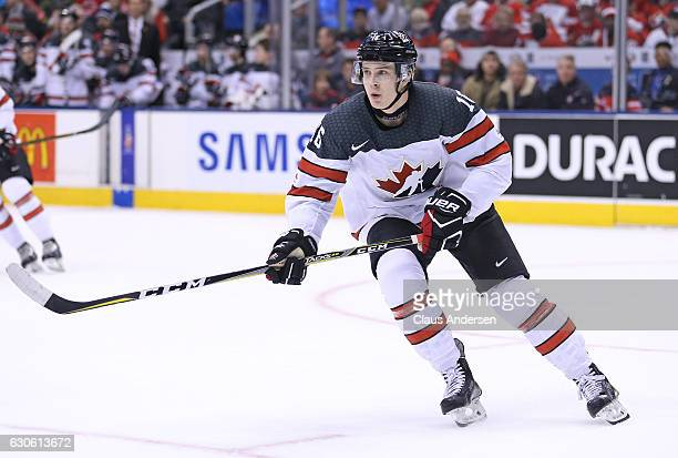 Taylor Raddysh of Team Canada skates against Team Slovakia during a preliminary game in the 2017 IIHF World Junior Hockey Championship at the Air...