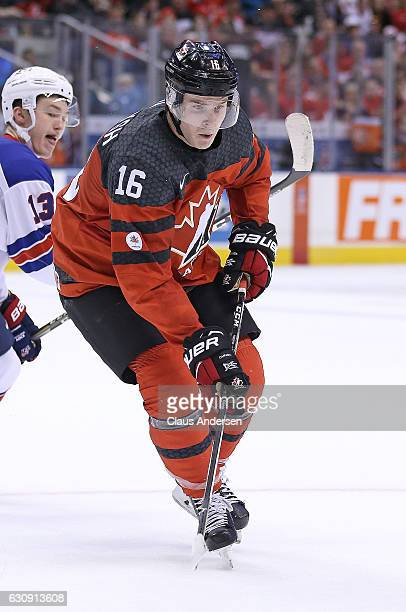 Taylor Raddysh of Team Canada skates against Team USA during a preliminary round game in the 2017 IIHF World Junior Hockey Championship at the Air...
