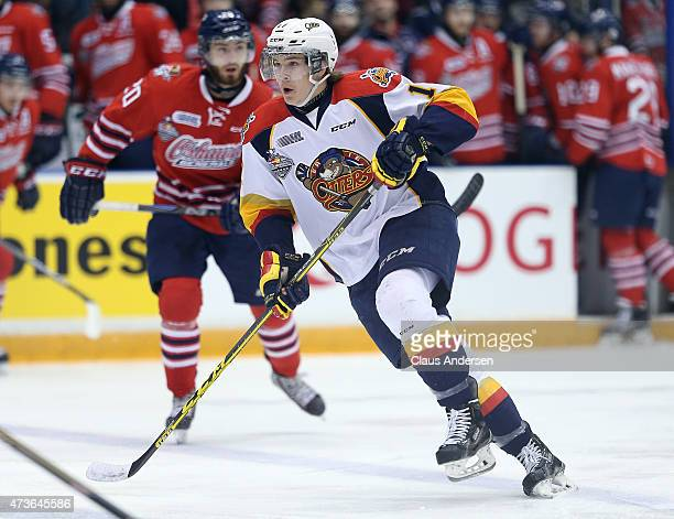 Taylor Raddysh of the Erie Otters skates against the Oshawa Generals in Game Five of the OHL Robertson Cup Championship Final at General Motors...
